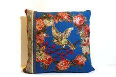 Cottage chic pillow free hand machine by JoJosArtisticDesign
