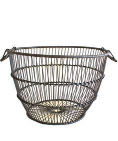Large Metal Clam Basket