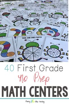 Are you looking for fun and enagaging first grade math games that are no prep and ready to go? Snag your set of print and go math games today! Centers First Grade, First Grade Lessons, Teaching First Grade, First Grade Classroom, 1st Grade Math, Math Centers, Grade 1, Math Lessons, Math Fact Fluency