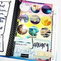 January collage for my #noexcuses journal | Watercolor, paper objects