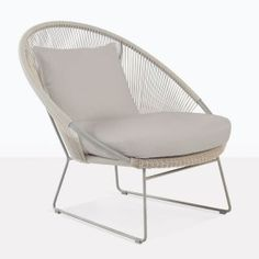 Natalie Outdoor Relaxing Lounge Chair (Taupe)