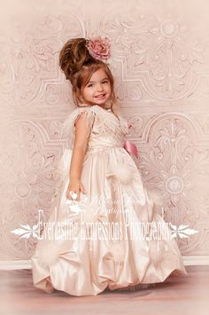 Princess Puff Flower Girl Dress por MelissaJaneBoutique en Etsy