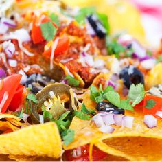 Such a fun dish to share with friends and family.. Taco Chips with all the Fixins  Recipe from Grandmothers Kitchen.