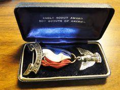 Scarce Sterling Eagle Scout Medal Badge W/ Case Eagle Scout Sterling Medal Badge W/ Case - Great Find! by EagleDen on Etsy