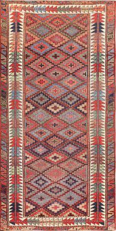 Antique Tribal Caucasian Kazak Rug 47573 by Nazmiyal - By Nazmiyal  http://nazmiyalantiquerugs.com/antique-rugs/antique-product-type/antique-tribal-caucasian-kazak-rug-47573/