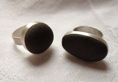 My first beach stone rings