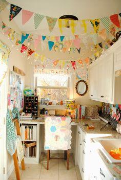 craft room in a kitchen. fun!