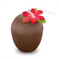 Coconut Cup with Cover and Straw Description: Perfect for tropical drinks for your luau! Coconut Cup with Cover and Straw is made of plastic with a tropical flower Luau Bridal Shower, Luau Baby Showers, Luau Party Favors, Spa Party, Beach Party, Luau Birthday, Birthday Gifts For Girls, Birthday Parties, Hula