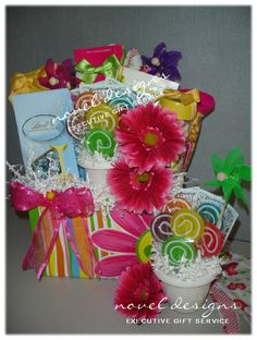 Garden Party Gift Basket - Great for Mother's Day, Birthday, Valentine's or Just Because. noveldesignsllc.com