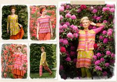 New Spring range GUDRUN SJÖDÉN – Colourful clothes and home textiles in natural materials.