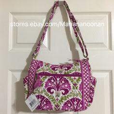 Vera Bradley On The Go CrossBody Shoulder Bag Handbag Julep Tulip Pink Green 886003234808 | eBay