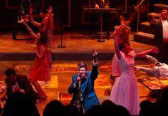 "Kyle Jurassic as ""Robbie Hart"", center, performs in ""The Wedding Singer"" - Sally Finneran | MLive.com"