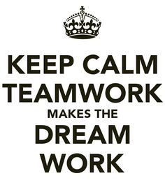 Teamwork has the power.