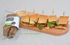 cretangastronomy.gr - Σάντουιτς με απάκι Κρήτης και κρέμα τυριού (video) Hamburger, Sushi, Sandwiches, Tacos, Food And Drink, Mexican, Ethnic Recipes, Youtube, Hamburgers