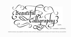 Flourishing calligraphy takes a lot of planning and time. This is my new logo design. I can design your name, or business name for memorable logo design.
