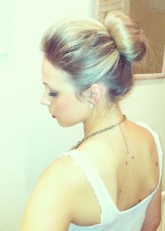 Bun with quiff up-do
