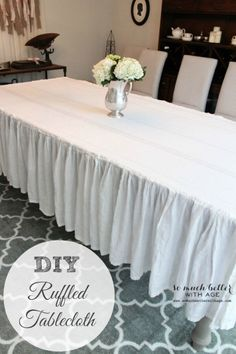 How to make a ruffled tablecloth somuchbetterwithage.com