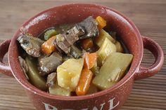 Very good venison stew recipe. I added some brown gravy powder to it to make it a little thicker