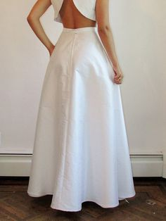 NEW A-line Silk Shantung Skirt - Long Maxi Skirt Outfit Summer, Maxi Skirt Outfits, Look Fashion, Fashion Outfits, Bridal Separates, Full Length Skirts, Chiffon Skirt, Formal Gowns, High Waisted Skirt