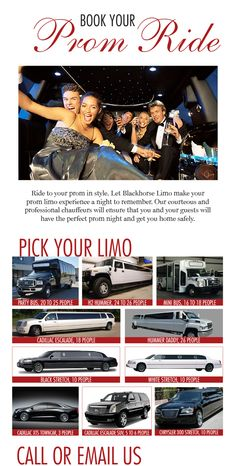 Book your prom ride with Blackhorse Limo! Call or email us at 281-256-7239 or info@blackhorselimo.com  *50% non-refundable deposit due at time of booking. #blackhorselimo