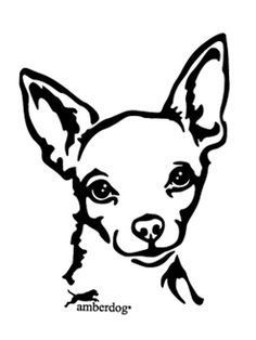 Chihuahua Face Die-Cut Decal Car Window by BeeMountainGraphics Chihuahua Tattoo, Chihuahua Art, Chihuahua Drawing, Dog Stencil, Animal Stencil, Stencil Patterns, Stencil Designs, Halloween Pumpkin Carving Stencils, Wood Burning Patterns