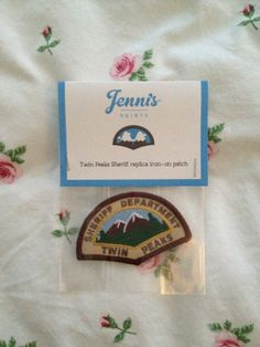 Twin Peaks Sheriff ironon replica patch by JennisPrints on Etsy, $12.00
