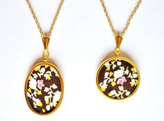 Handmade autumn necklaces by Adventures & Tea Parties! https://www.etsy.com/listing/200429667/handmade-autumnal-necklace-handmade-gold?ref=related-1