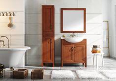 Santos 75 2D olcha/alder, umywalka ceramiczna/ ceramic washbasin Rio. #elita #meble #lazienka #santos #bathroom #furniture #alder
