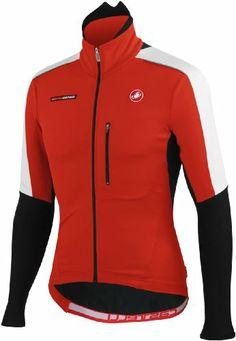Castelli Trasparente Due Wind Long Sleeve Jersey Red/Black/White, XXL - Men's - http://ridingjerseys.com/castelli-trasparente-due-wind-long-sleeve-jersey-redblackwhite-xxl-mens/