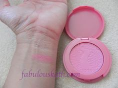 Tarte Blush in dollface (matte light pink blush)