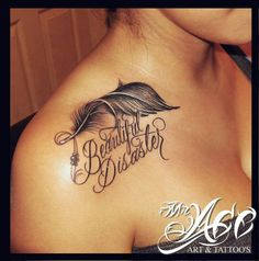 Beautiful disaster..love this!! And the white in the feather, loove love love.!