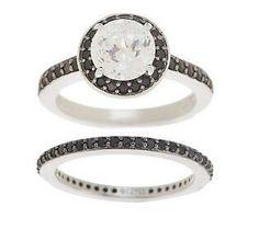 Black and white diamond ring set. Pretty sweet!!