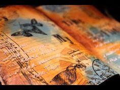 Mixed Media Art Journal - My, My, Time Flies - YouTube