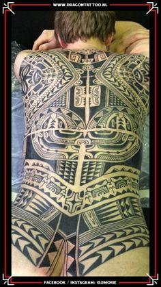 BIG WORK. Polynesian inspired backpiece.  Tattooed by: Jim Orie Dragon Tattoo Becoming A Tattoo Artist, Tattoo Portfolio, Unique Tattoos, Tattoo Artists, Dragon, Inspired, Big, Inspiration, Biblical Inspiration