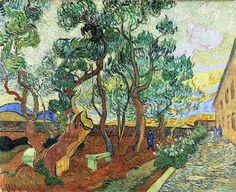 Vincent van Gogh - 1889 The Garden of the Asylum in Saint-Remy   oil on canvas 73.5 x 92 cm