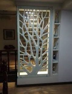 PVC wood board MDF hollow carved panels backdrop screen porch ceiling partition walls white in Continental - Haus Dekoration Living Room Partition Design, Living Room Divider, Room Partition Designs, Living Room Decor, Partition Walls, Partition Ideas, Room Partitions, Room Divider Shelves, Flur Design