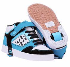 ec22e6df43 Heelys Stripes Roller Shoe (Blk Cyan Blue Wh). Roller Skate ShoesKid ...