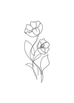 Flower Lines Poster in der Gruppe Poster & Prints / Illustrations bei Desenio . - Flower Lines Poster in der Gruppe Poster & Prints / Illustrations bei Desenio … – - Line Art Tattoos, Cute Tattoos, Small Tattoos, Small Flower Tattoos, Flower Tattoo Designs, Tattoo Ideas Flower, Flower Outline Tattoo, One Line Tattoo, Tattoo Floral