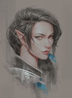 Portrait of an elf warrior, character inspiration Critical Role: Vex'ahlia by ae-rie on DeviantArt Elfa, Fantasy Portraits, Character Portraits, Elf Characters, Fantasy Characters, Fantasy Rpg, Medieval Fantasy, Fantasy Inspiration, Character Inspiration