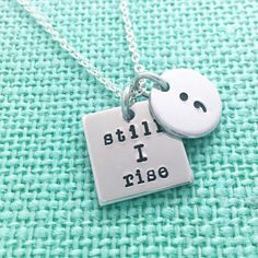 Semicolon Project still I rise and hand stamped by Eight9Designs