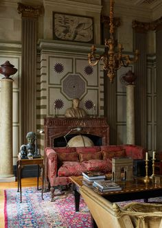 Apartment-style of Florentine palazzo by Thierry Tenarsa..