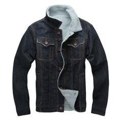 37.74$  Watch here - http://alir4s.shopchina.info/go.php?t=32696896332 - 2017 Winter Parka Mmen New Plus Thick Cotton Men Denim Jacket Slim Tide Models Denim Coat Cotton Clothes Blouse Jeans Jacket  #bestbuy