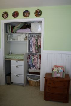 baby closet with built in changing table - Google Search