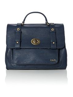 Hugo navy satchel bag