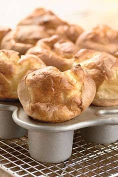 Popovers by kingarthurflour: Everyone needs a little magic in their lives. #Popovers