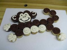 Image result for monkey pull apart cupcake cake