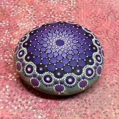 Mandala Stone Reserved for Stephanie by KimberlyVallee on Etsy