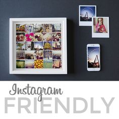 Your Instagram photos don't have to be stuck on your phone. The square sizes of Instagram shots make them perfect for many creative and personalized products! Create a set of coasters from your last family reunion, or print your photos on canvas and show off your favorite vacation in a framed photo collage. Customize a set of greeting cards or thank you cards to send to your family and friends—the possibilities are endless! Don't waste your Instagram photos: think outside the screen and turn…