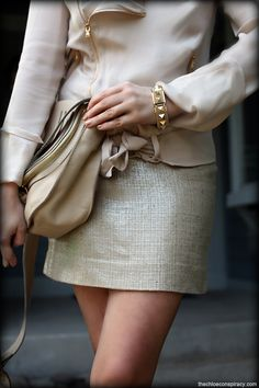 Outfit Of The Yesterday: Ivory & Gold | t h e (c h l o e) c o n s p i r a c y : fashion + life + style