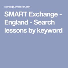 SMART Exchange - England - Search lessons by keyword